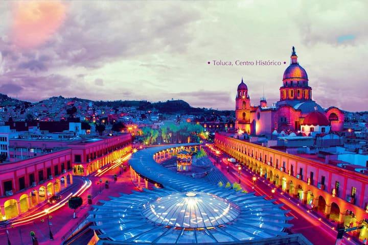 Habitación en Toluca, excelente ubicación - Toluca de Lerdo - Appartement
