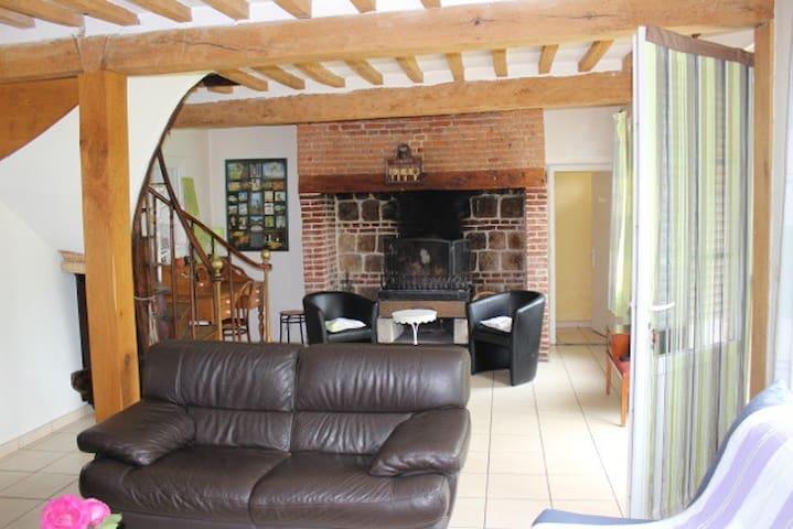 Les Salinettes 3 chambres pour 6 personnes 3km mer - Le Bourg-dun - Casa