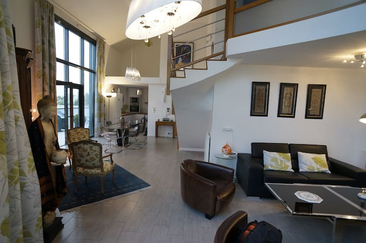 Nice & big duplex Penthouse,  Sunny terrace! - Saint-Ouen - Daire