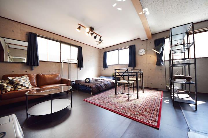 5 min to Deer Park: Classic Room - Nara - Huoneisto