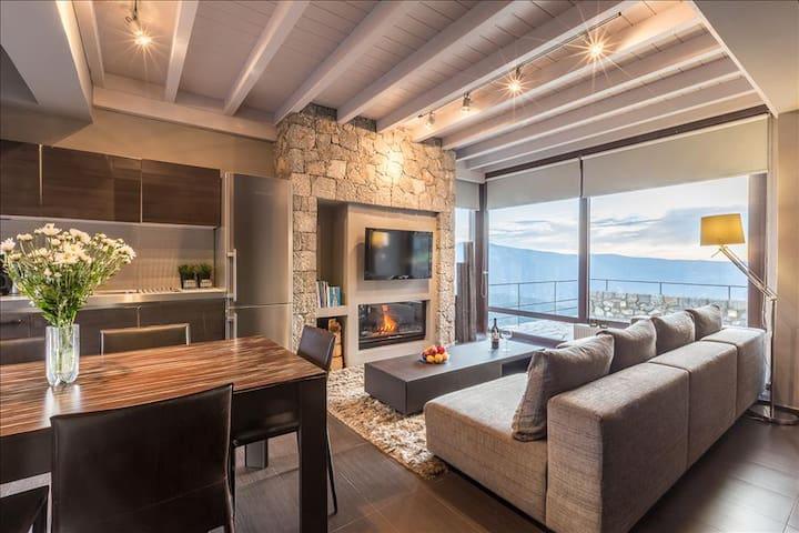 White Hills luxury villa A - Arachova - Villa