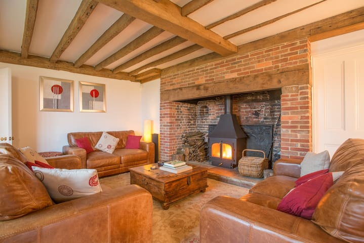 Large double (or twin) with en-suite in rural area - Hadlow Down - Pousada