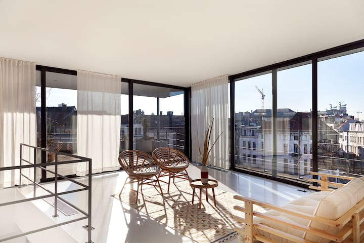 Whitebox loft with a VIEW!!! - Anvers - Loft