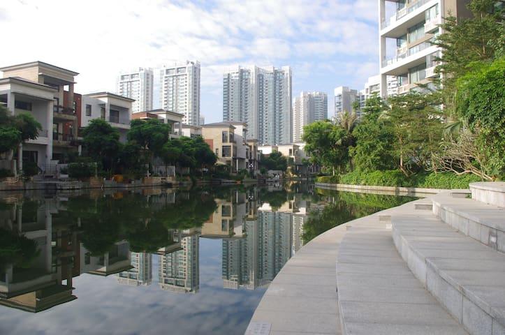 离口岸仅5分钟车程近南屏,小区外河景、小区内澳门景、别墅景及湖景高档私人住宅 - Zhuhai
