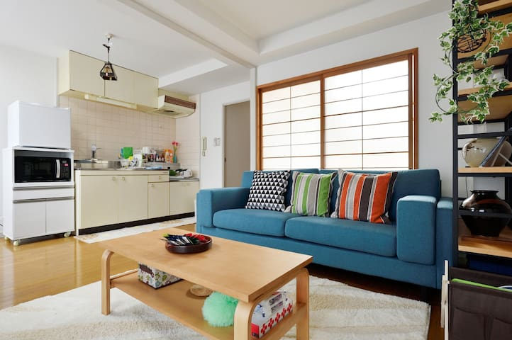 Free Wi-Fi★Cozy living room, bedroom, kitchen! - Toyonaka-shi - Apartmen