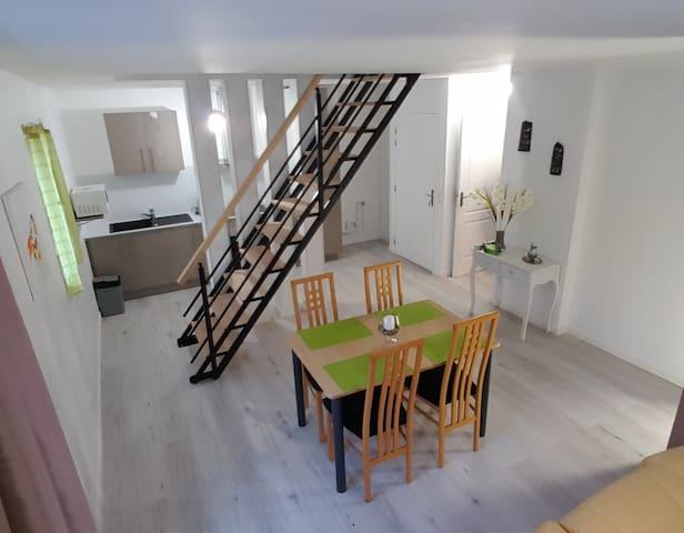 DUPLEX 85m² / PARIS 10MIN / RER D - Stains - 公寓