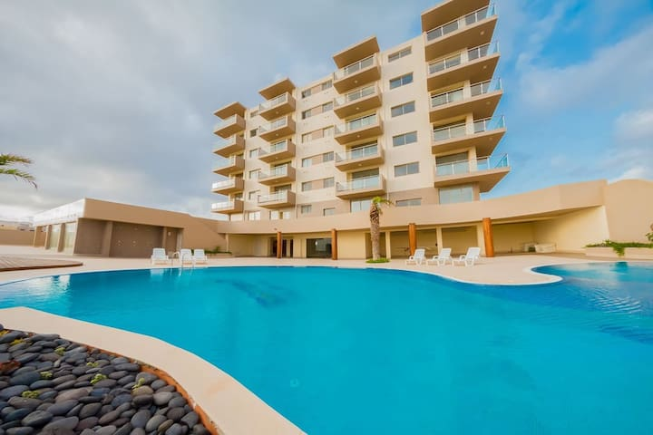 Beautiful 1 bedroom Apartment - Ocean view - Mindelo - Service appartement