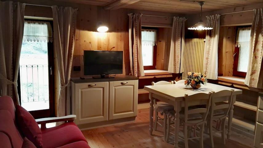 Trilocale in casa storica Valle di Gressoney-Gaby - Gaby - Leilighet