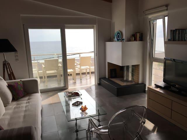 Apartement with Aegean sea view - Agia Anna - Hus