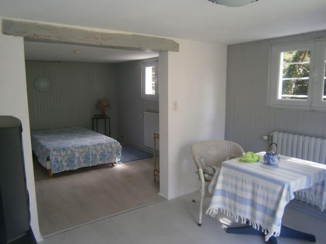 Grande chambre avec salle de douche, wc privatifs. - Écommoy
