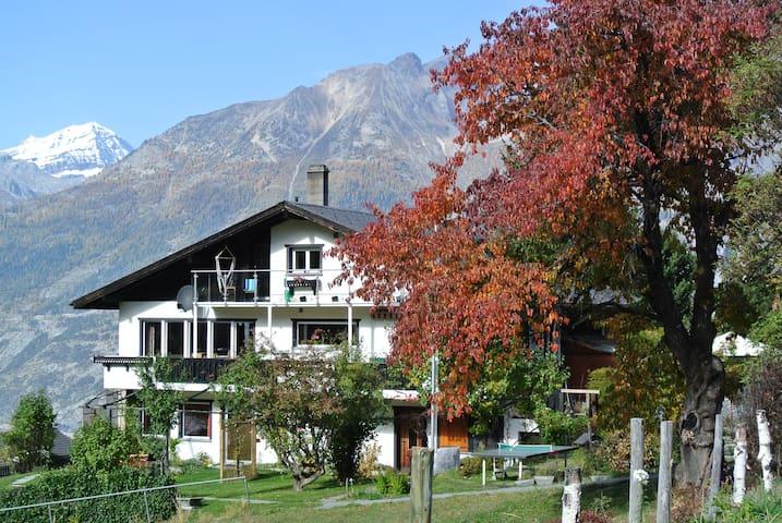 Haus Fortuna -  Ruhig Lage  Abseits vom Verkehr - Bürchen - 公寓