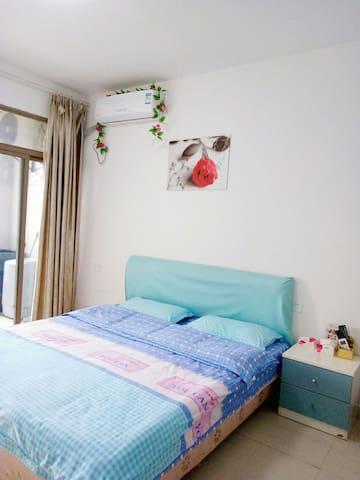 大学城博士后温馨单身公寓大床房 - Fuzhou Shi - Appartement