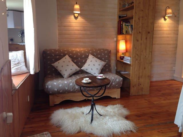 Studio cosy ❤️ village St Bonnet - Saint-Bonnet-en-Champsaur - Departamento