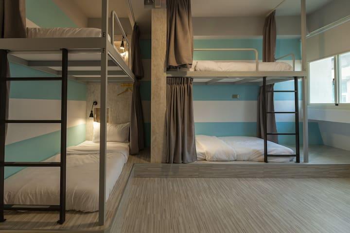 花蓮北吉光6人混合房的1床/1 bed@Mixed Dorm-1C - Hualien City - Daire