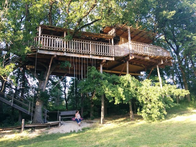 TreeHouse in South West of France. - Montignac-de-Lauzun - Boomhut