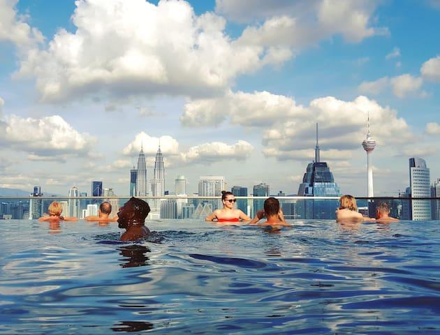 Luxury 1BR High Floor&KLCC Sky Pool中文房东#豪华套房和无边际泳池 - Kuala Lumpur - Lakás