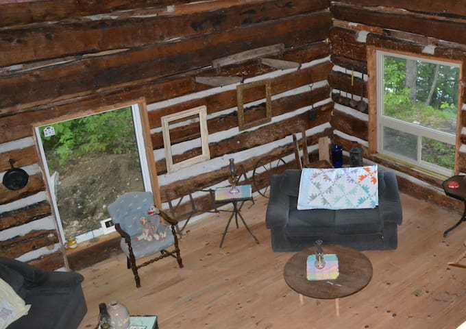 Hand Hewn Log Cabin on the Lake - Haley Station
