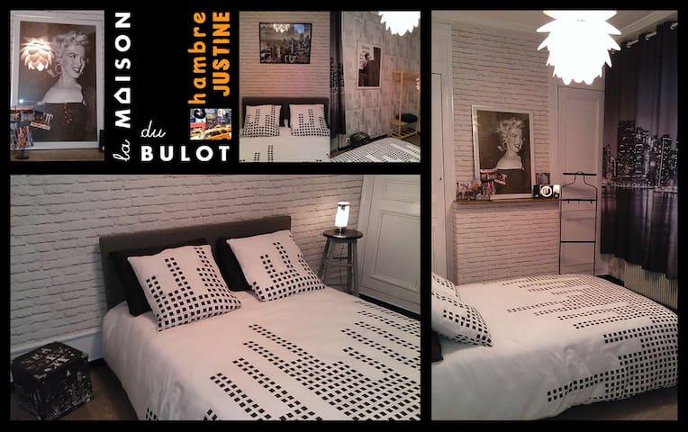la maison du bulot: chambreJUSTINE - Fruges - Bed & Breakfast