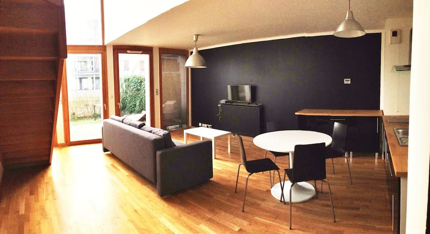 Tours, beautiful duplex loft style whit terrace - Tours - Pis