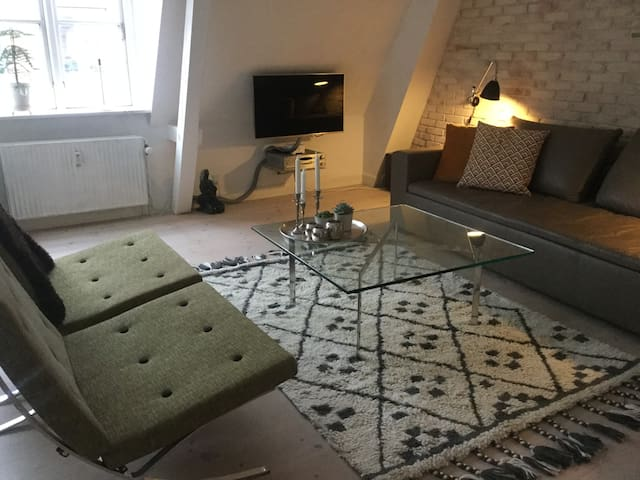 Central Roskilde - 85 m2 apartment + roof terrace - Roskilde