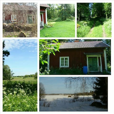 Private cabbin piece and quiet on the countryside - Köping - Cabaña