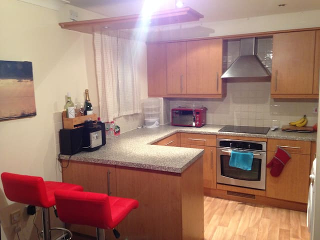 Double Room in Warm Flat Near Town - Northampton - Daire