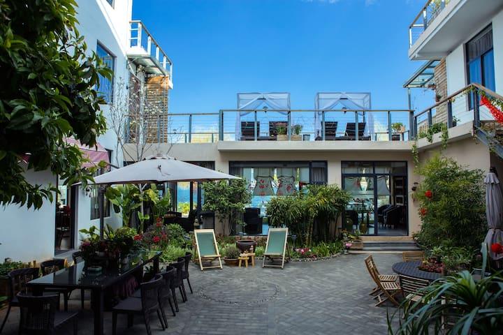 洱海边的家·恬舍酒店豪华海景双床房 - Dali - Boetiekhotel