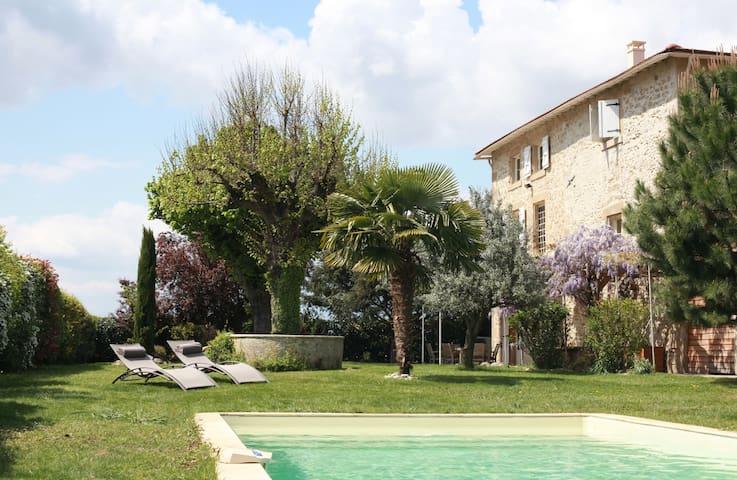 Les Magnarelles - chambre + piscine - Romans-sur-Isère - Haus