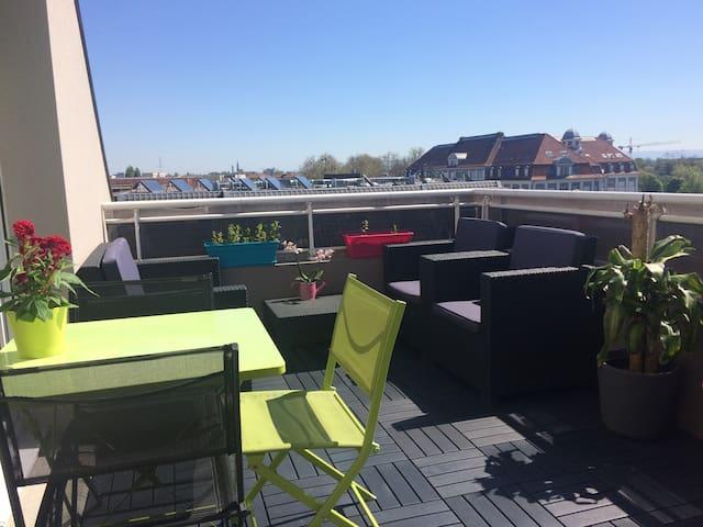 F2 lumineux, wifi parking terrasse - Lingolsheim