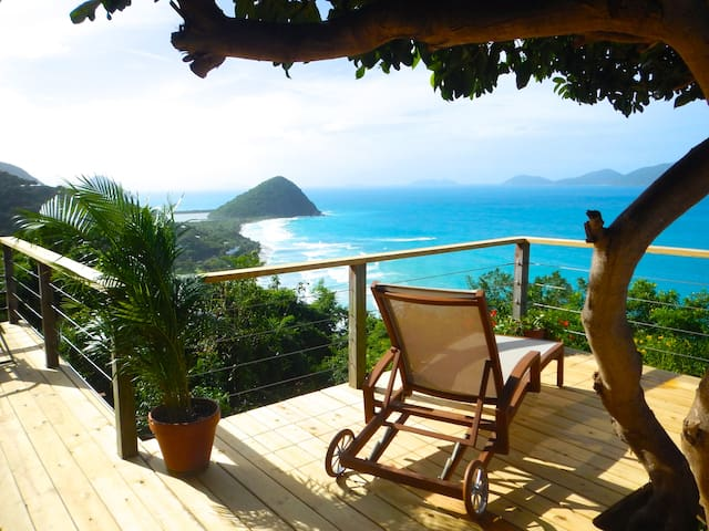 Incredible beach & surf view at Turtle Dove House. - Long Bay - 獨棟