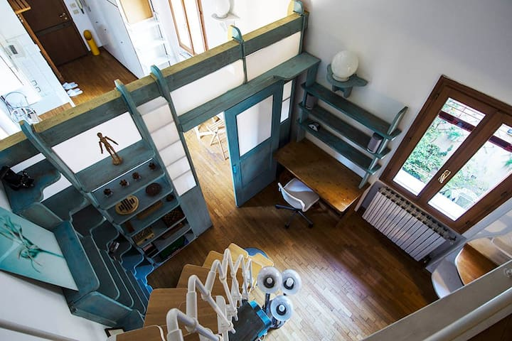 Central Loft with Air Conditioning - 博洛尼亞 - Loft空間