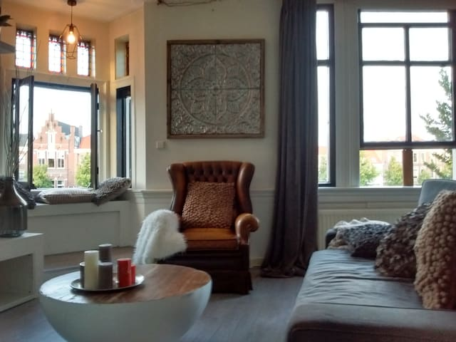 Charming City Centre App with stunning view! - Haarlem - Apto. en complejo residencial
