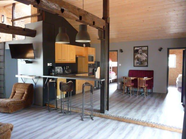 Gîte Sud des Landes,6 pers,pisc partagée chauffée - Estibeaux - Ev