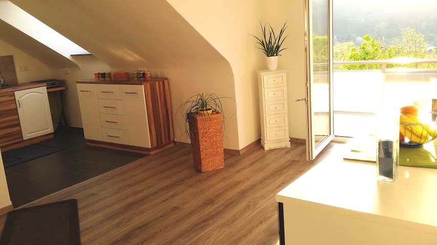 4-Zimmer mit Balkon für 6 Personen, Bad Kissingen - Bad Kissingen - Leilighet