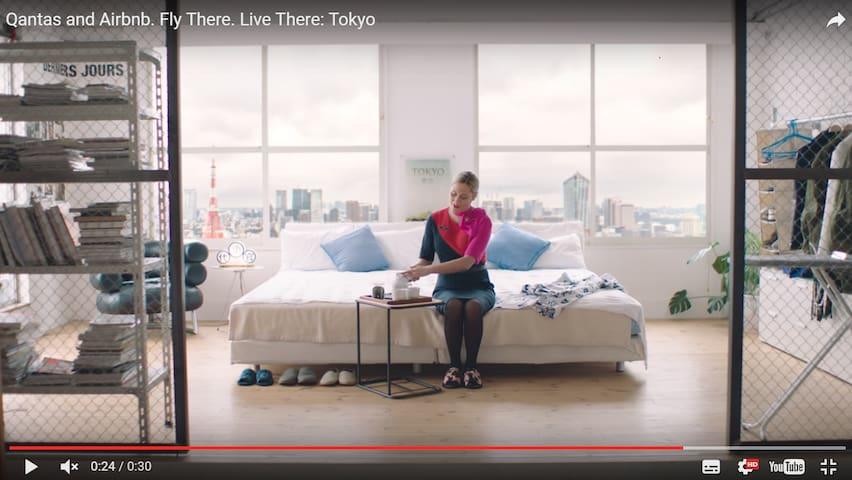 Design Loft behind Tokyo Midtown (calm&relax area) - Minato-ku - Loft-asunto