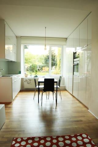 Minimalist Apartment with Garden in Centre of Brno - Brno - Daire