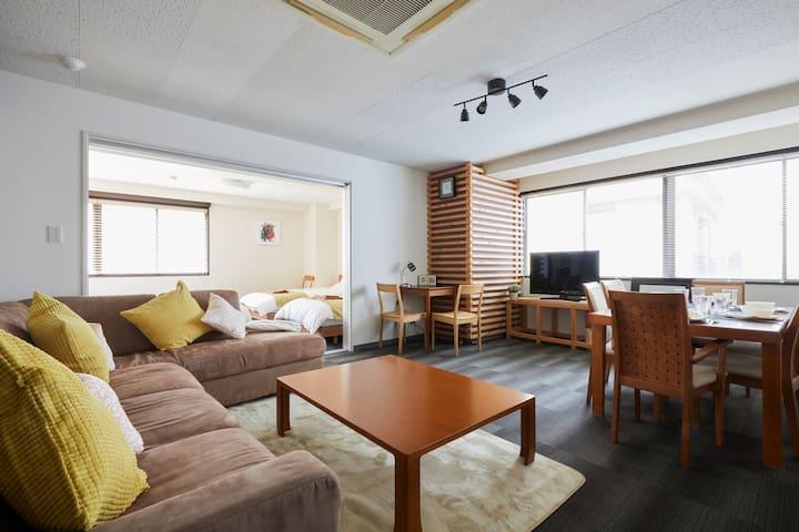 Near Roppongi/90㎡ / 2BR / 10 beds /Max 10 people - Minato-ku - Квартира