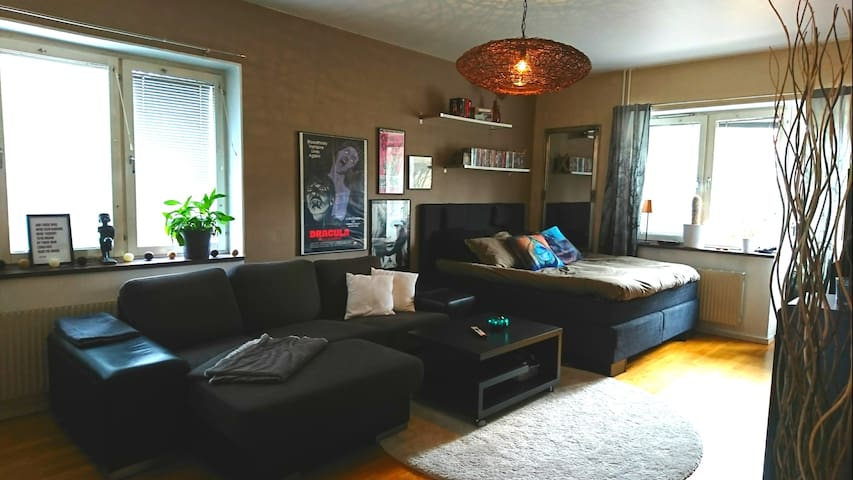 Cosy studio near city centre & beach, free parking - Helsingborg - Daire