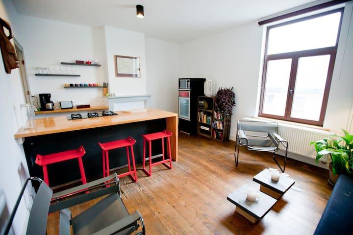 Privé appartement in Gent (50m2) - Gante - Apartamento