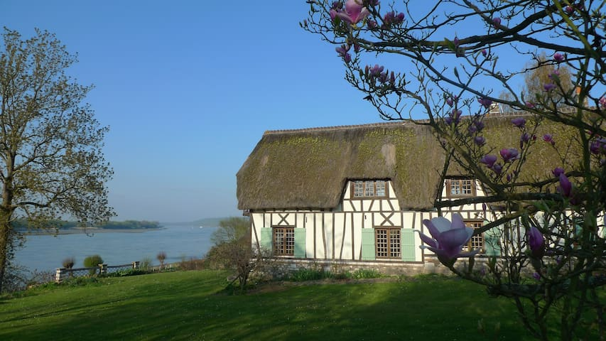 Thatched cottage - Normandy - Seine - Vieux-Port - Σπίτι