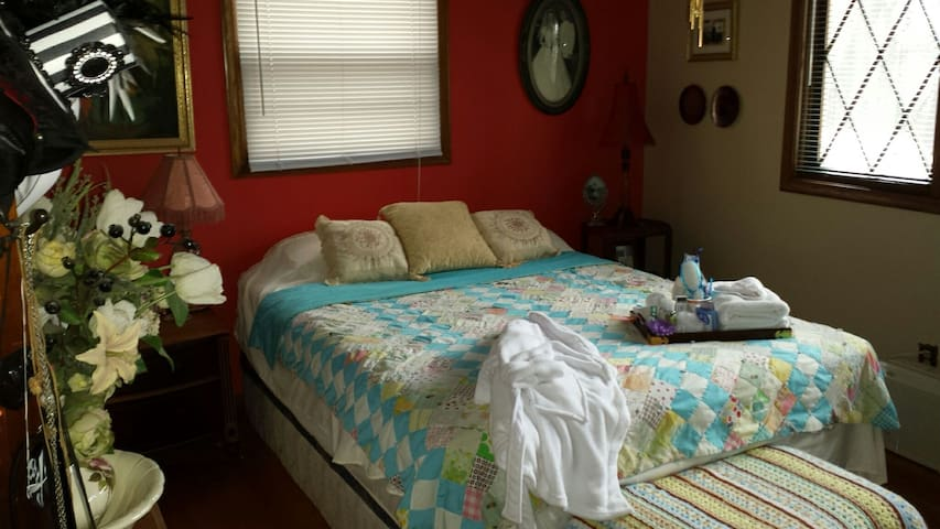 Cozy guest room in a family home. - Mounds View - Ev