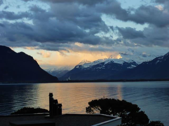 Superbe studio au bord du lac Leman - Montreux - Apartament