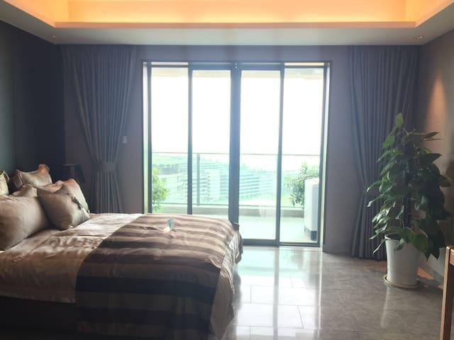 西海岸最高端公㝢,一线海景,沙灘漫步,可尊享万豪酒店最高礼遇 - 海口 - Appartement