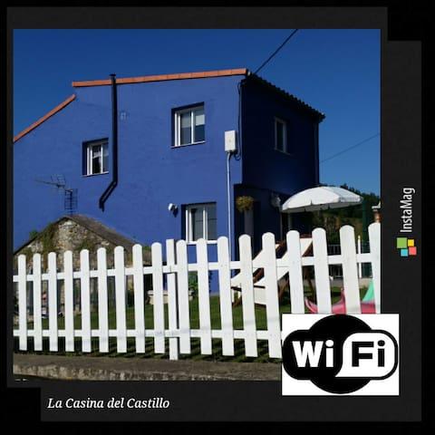 Casa panorámica en El Castillo. - Soto del Barco - Huis