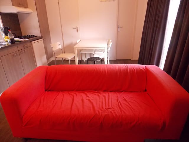 The Red couch in chalet 20 from Agnietenberg - Zwolle - Chalet