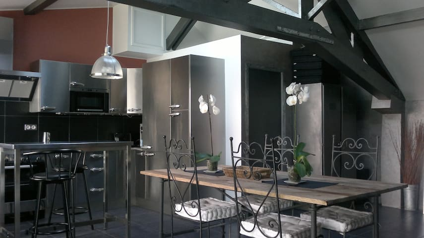 Loft 56m2 fully equiped, 10mn from Parc des Expos - Aulnay-sous-Bois - Loft