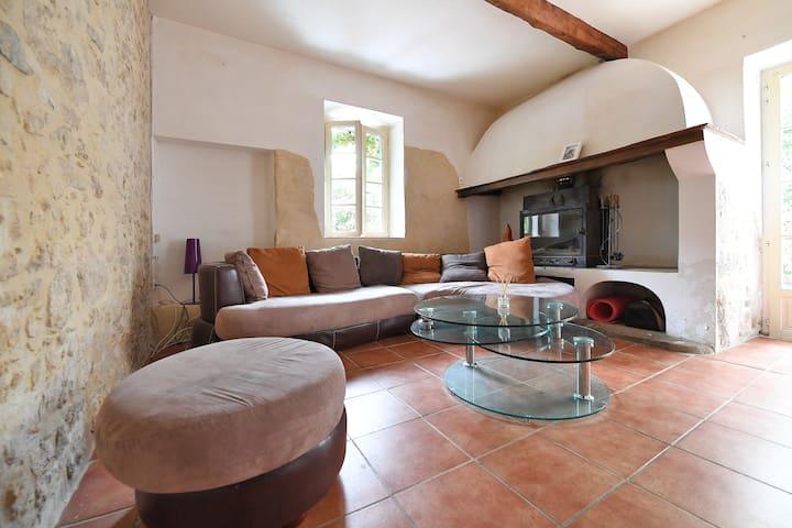 Chambre avec vue sur le Pic St Loup - Saint-Mathieu-de-Tréviers - Hus