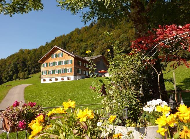 Geräumige südseitige Ferienwohnung - Bolgenach - Selveierleilighet