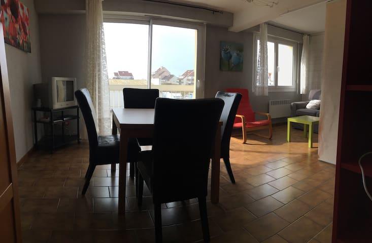 T2 de 50m2, plein centre, à 200m de la plage - Neufchâtel-Hardelot - Leilighet
