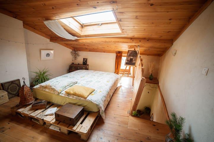 Maison chaleureuse et atypique (chambre privée) - Brenac - Ev